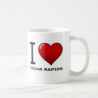 I LOVE CEDAR RAPIDS,IA - IOWA COFFEE MUG