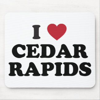 I Love Cedar Rapids Iowa Mouse Pad