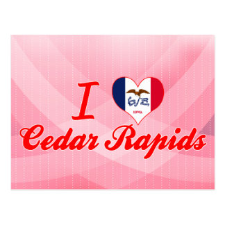 I Love Cedar Rapids, Iowa Postcard