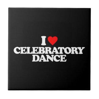 I LOVE CELEBRATORY DANCE TILES