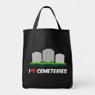 I Love Cemeteries Tote Bag