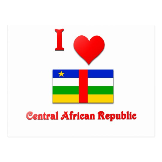 I Love Central African Republic Postcard