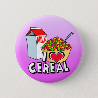 I LOVE CEREAL 2 INCH ROUND BUTTON
