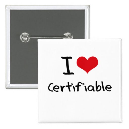 I love Certifiable Pinback Button