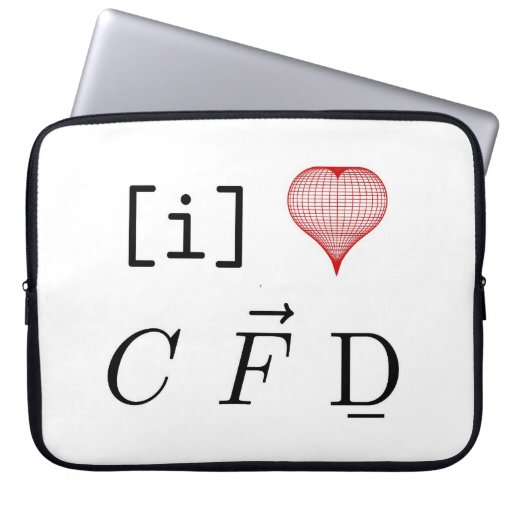I LOVE CFD laptop sleeve