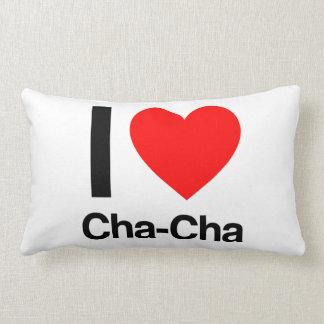 i love cha-cha lumbar pillow