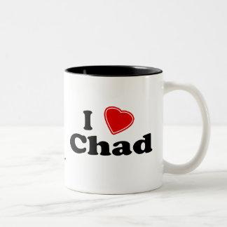 I Love Chad Two-Tone Coffee Mug