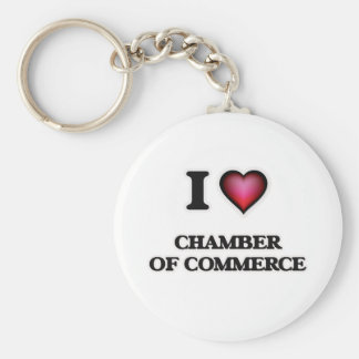 I love Chamber Of Commerce Basic Round Button Keychain