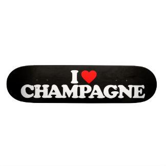 I LOVE CHAMPAGNE SKATE DECKS