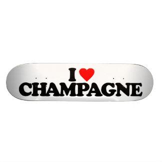 I LOVE CHAMPAGNE SKATEBOARD DECKS