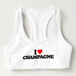 I LOVE CHAMPAGNE SPORTS BRA