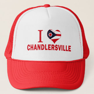 I love Chandlersville, Ohio Trucker Hat