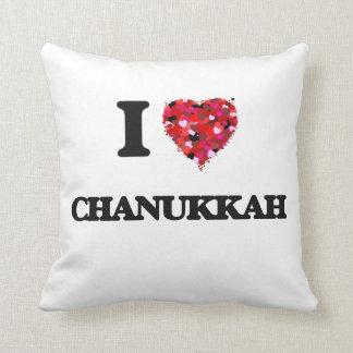 I love Chanukkah Throw Pillow