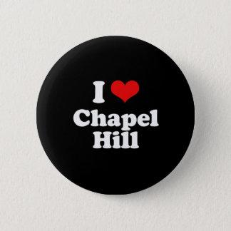 I Love Chapel Hill Tshirt White Tshirt 2 Inch Round Button