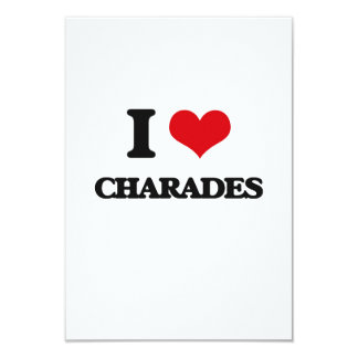 I love Charades Custom Invitations