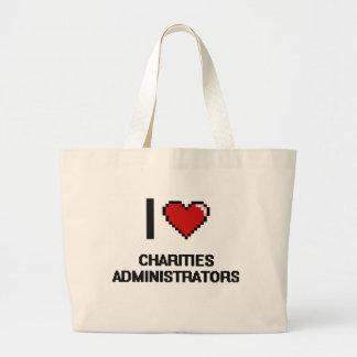 I love Charities Administrators Jumbo Tote Bag
