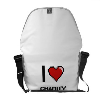 I love Charity Fundraisers Messenger Bag