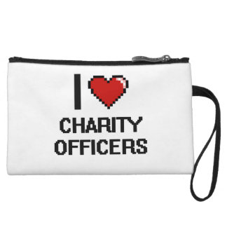 I love Charity Officers Wristlet Clutch