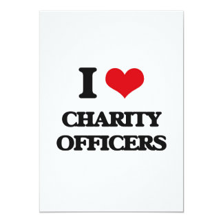 "I love Charity Officers 5"" X 7"" Invitation Card"