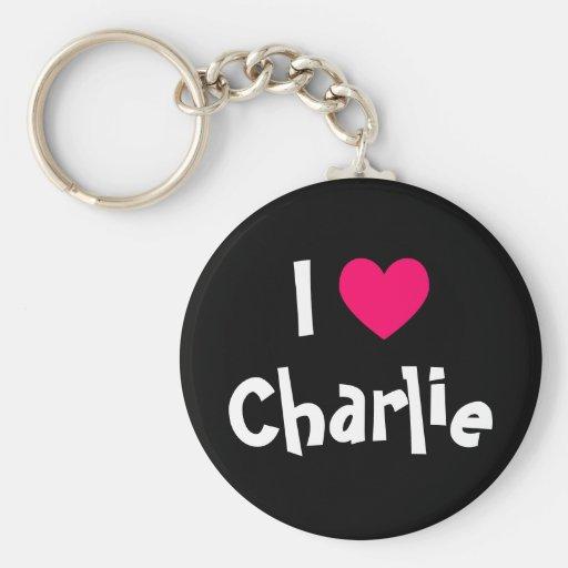 I Love Charlie Keychains