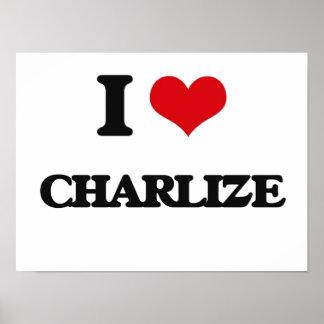 I Love Charlize Poster