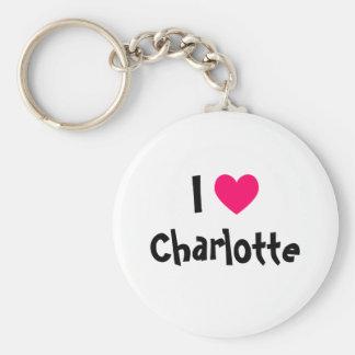 I Love Charlotte Keychain