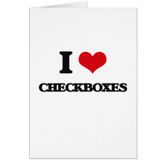 I love Checkboxes Greeting Card