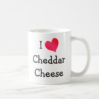 I Love Cheddar Cheese Basic White Mug