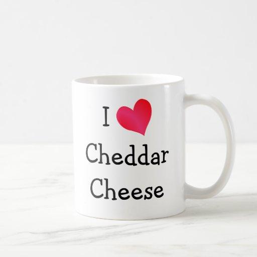 I Love Cheddar Cheese Mugs