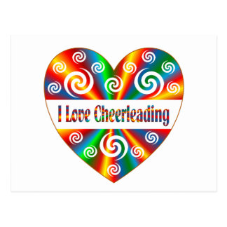 I Love Cheerleading Postcard