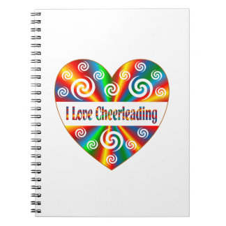 I Love Cheerleading Spiral Notebook