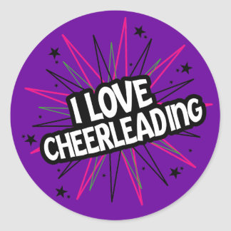 I Love Cheerleading Sticker