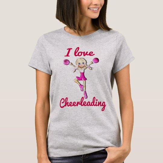 I love Cheerleading - T-shirt