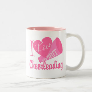 I Love Cheerleading Two-Tone Coffee Mug
