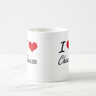 I Love Cheese artistic design Basic White Mug
