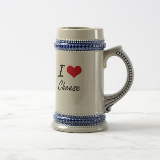I love Cheese Artistic Design Beer Steins