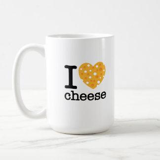 I Love Cheese Basic White Mug