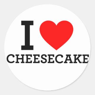 I Love Cheese Cake Round Sticker