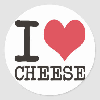 I Love Cheese - Candy - Cereal Products & Designs! Round Sticker