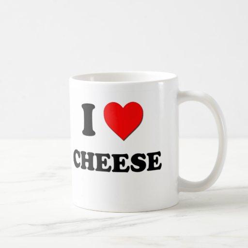 I Love Cheese ( Food ) Coffee Mug