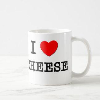I Love CHEESE ( food ) Coffee Mugs