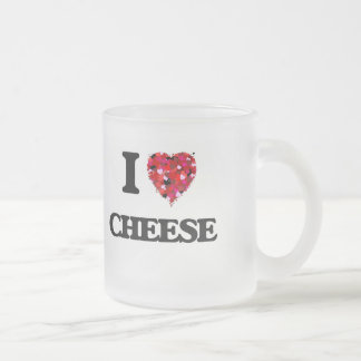 I love Cheese Frosted Glass Mug