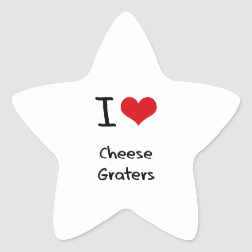 I love Cheese Graters Sticker