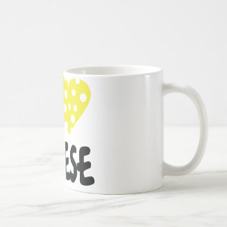 I love cheese icon classic white coffee mug