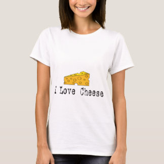 I Love Cheese Ladies Baby Doll Shirt