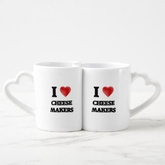 I love Cheese Makers (Heart made from words) Lovers Mugs