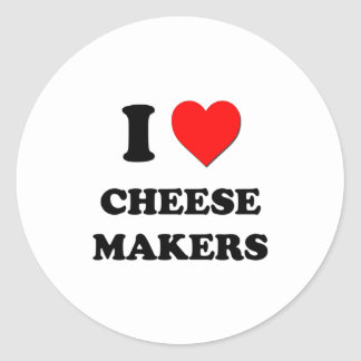 I Love Cheese Makers Round Stickers