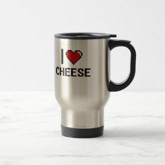 I Love Cheese 15 Oz Stainless Steel Travel Mug