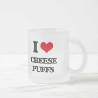 I Love Cheese Puffs Frosted Glass Mug