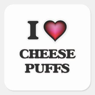 I Love Cheese Puffs Square Sticker